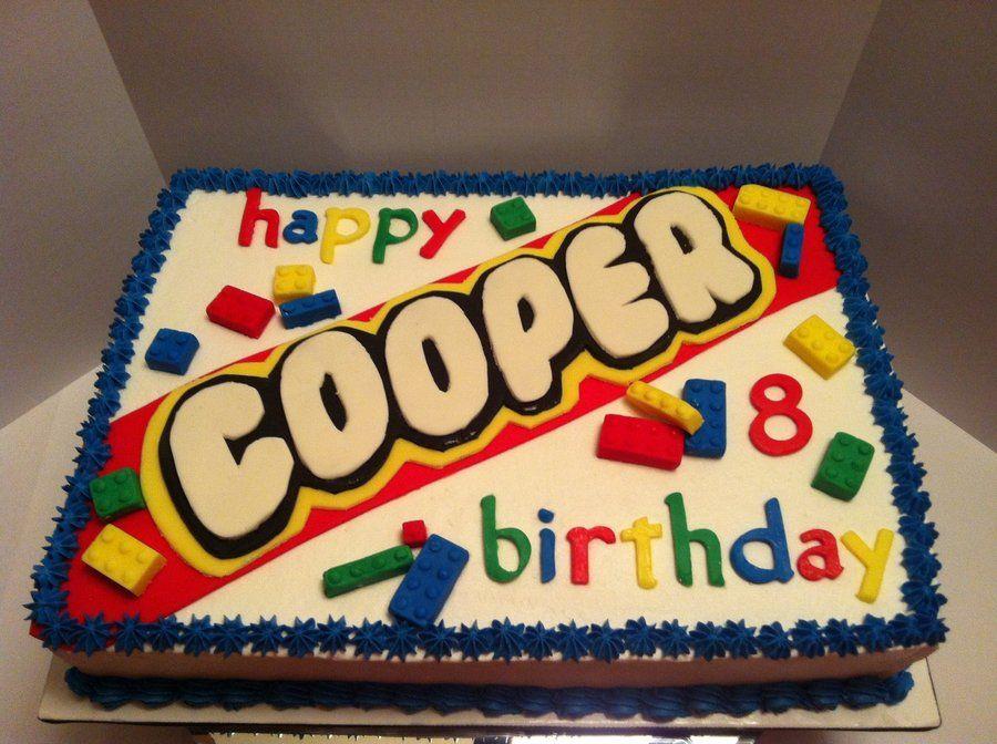 Birthday Cake Ideas Lego ~ Lego birthday cake sheet cake surprised but that was the birthday