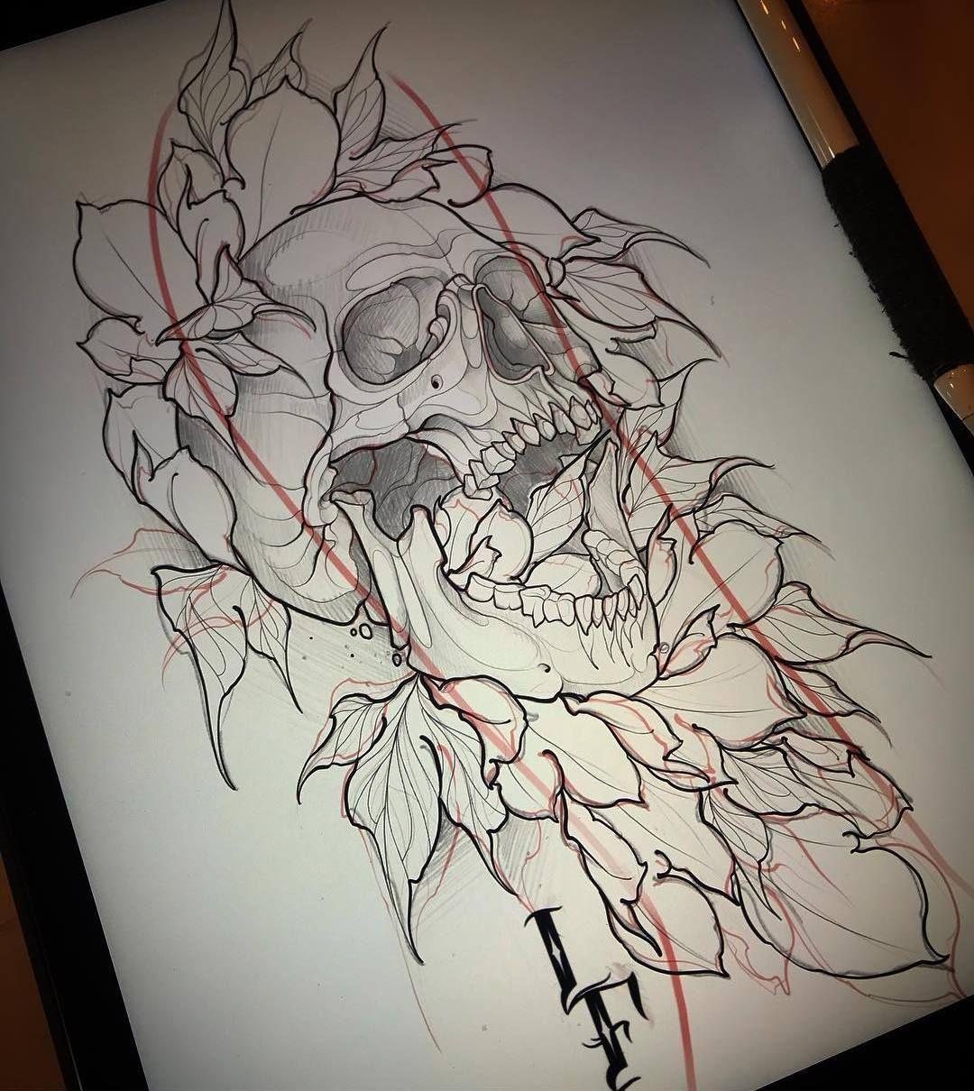Artskillus 25 100 Photos Vk Sketches Tattoo Design Drawings Skull Tattoo Design