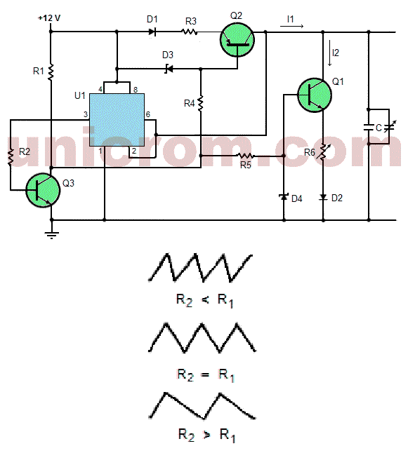 Generador De Onda Triangular De Simetr U00eda Ajustable Con 555