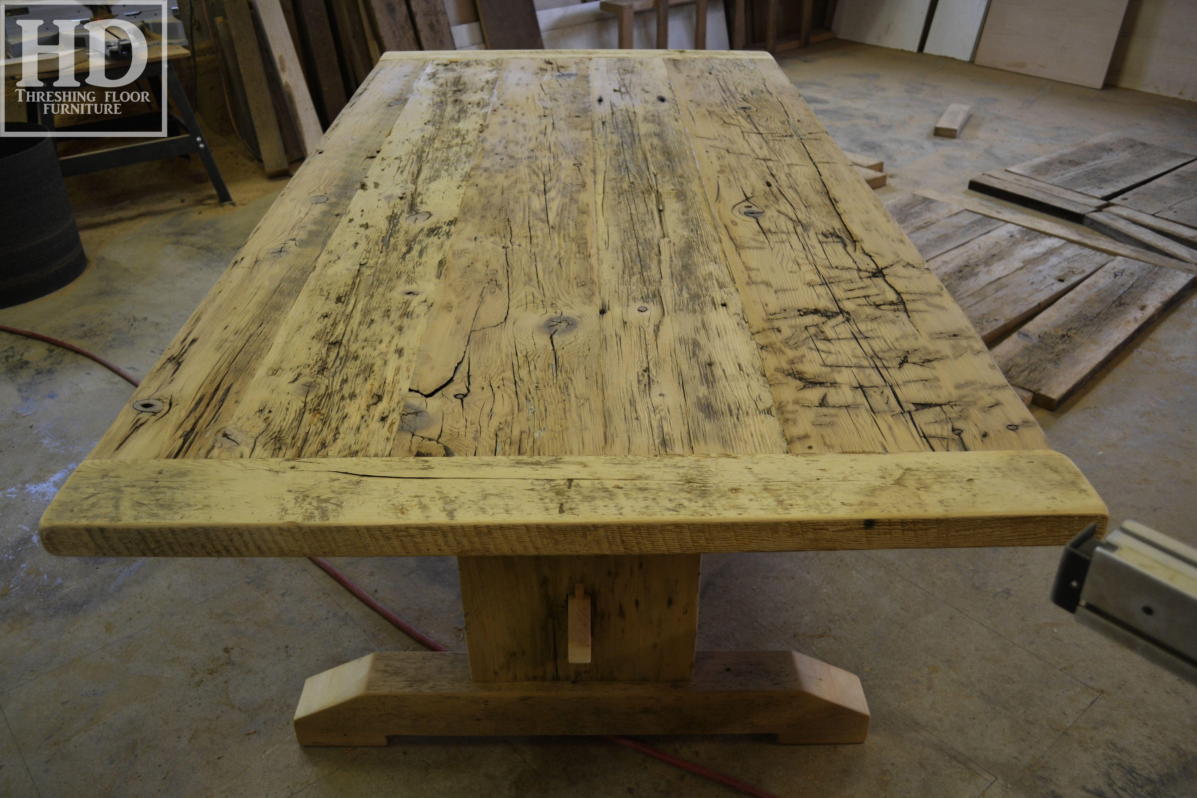 Ontario Reclaimed Wood Furniture Custom Built By Hd Threshing