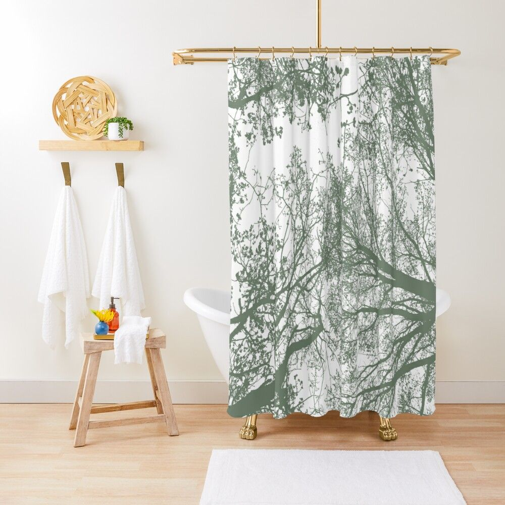 Abstract Trees Shower Curtain By By Jwp In 2020 Curtains