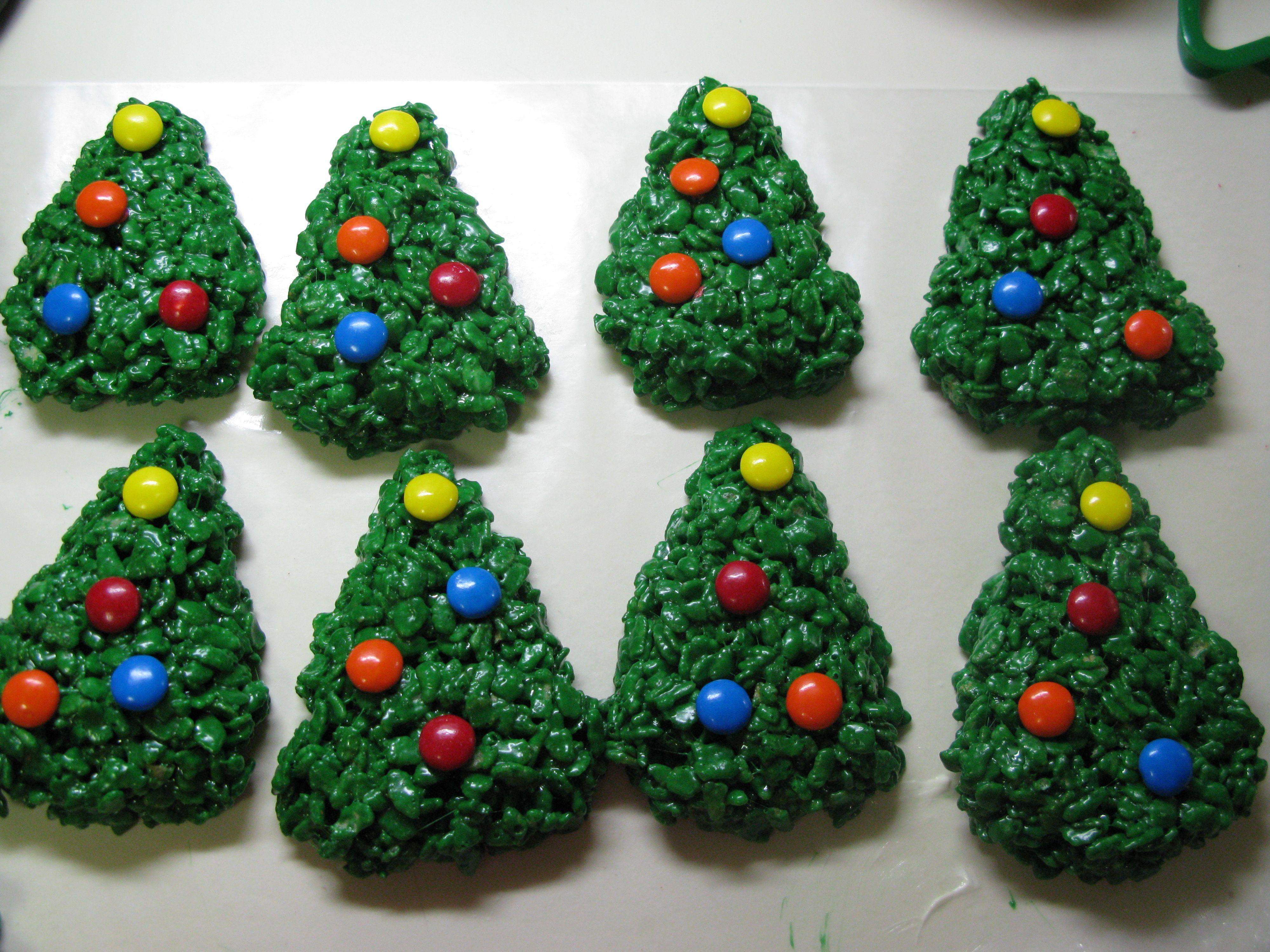 Rice Krispie Treats Christmas Tree.Christmas Rice Crispy Treats Christmas Tree Rice Krispie
