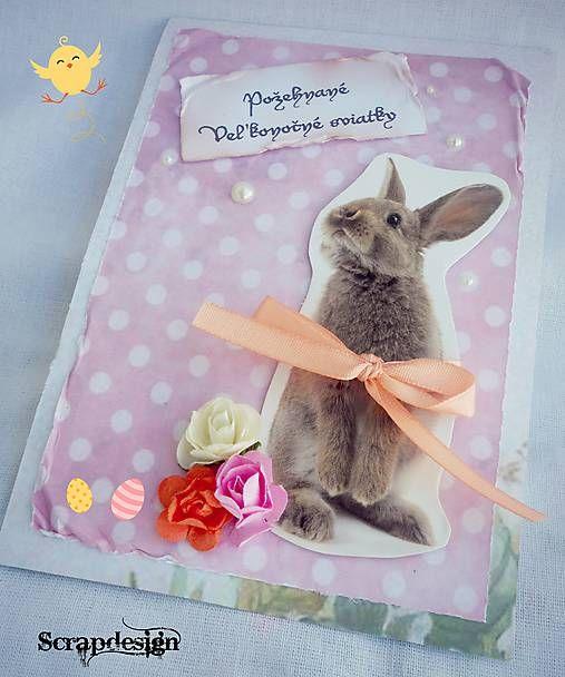 Scrapdesign / Veľkonočná pohľadnica / Easter postcard / scrapbooking