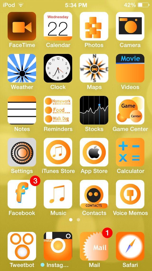 Orange7 – o tema portocalie pentru iOS 7
