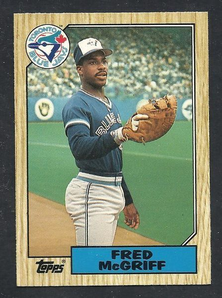 Fred Mcgriff 1987 Topps Traded 74t Rookie Card Mint Blue
