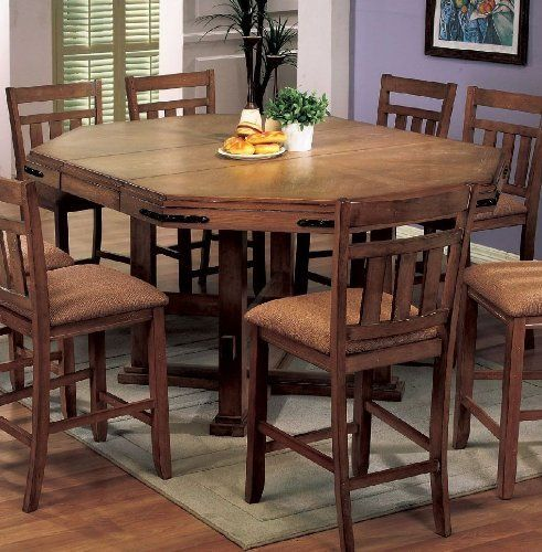 Coaster Chapman Counter Height Dining Room Table In Oak Finish Glamorous Coaster Dining Room Furniture Design Inspiration