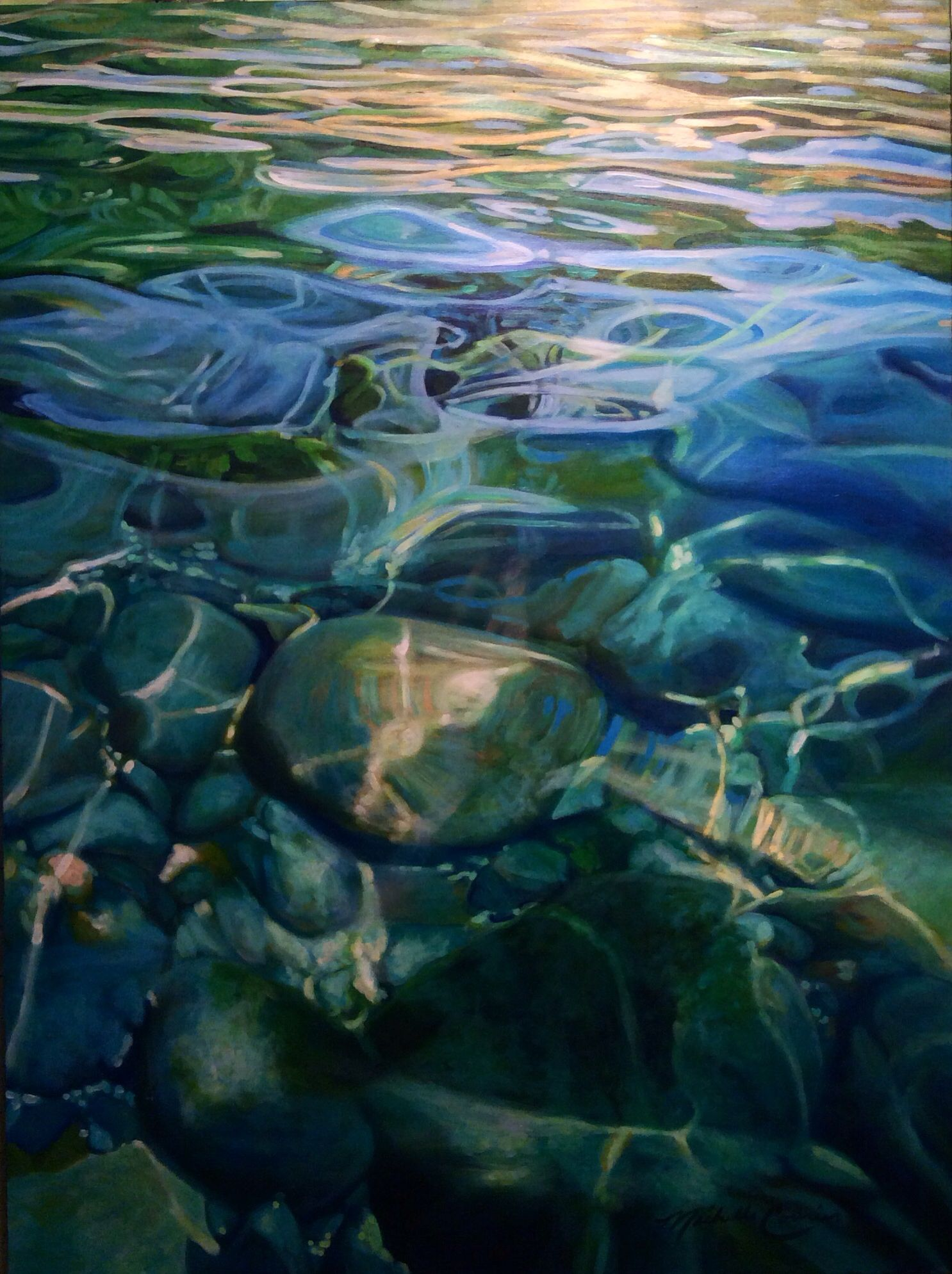 Water 36 Quot X48 Quot Acrylic Painting Artist Michelle Courier