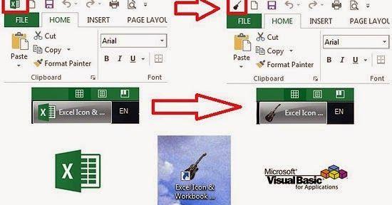 Excel icon, workbook shortcut, VBA, API, ExtractIcon