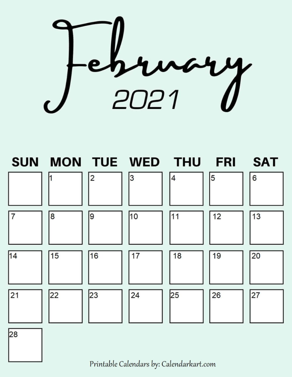 February 2021 Calendar Cute Cute & Free Printable February 2021 Calendars { 6 Pretty Designs