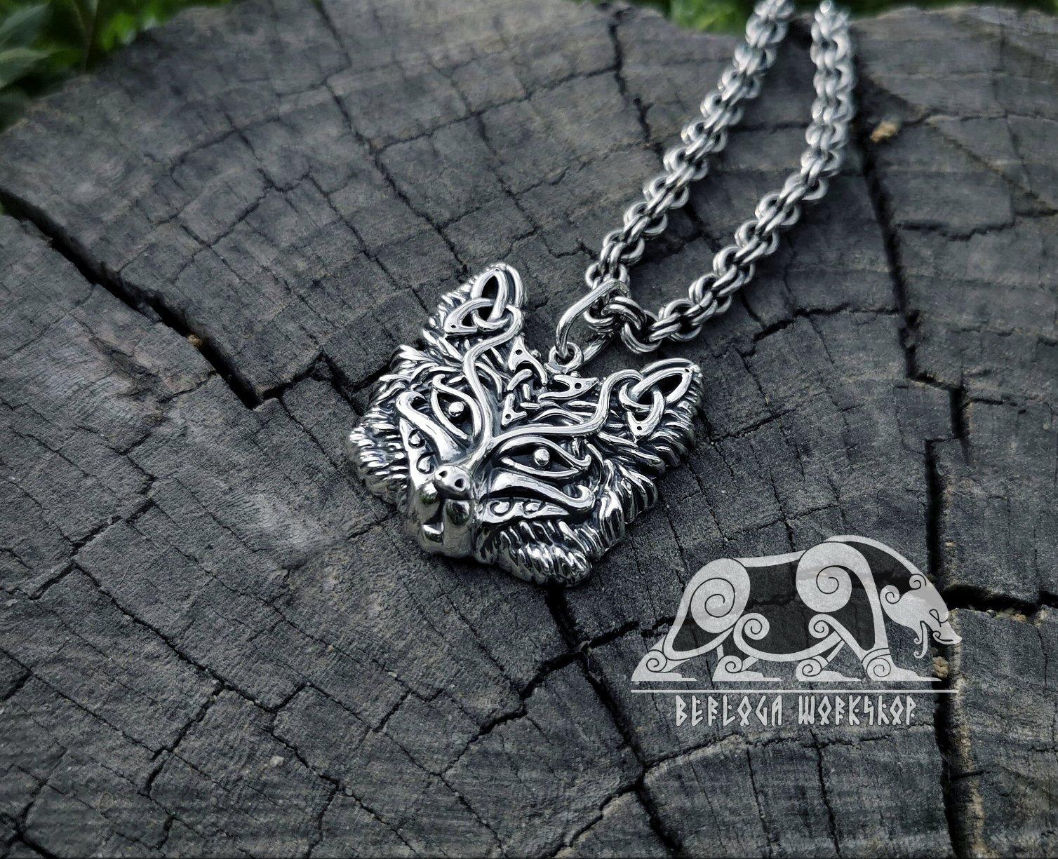 Fox Viking Pendant Sterling Silver Fox Pendant Viking Necklace Scandinavian Norse Fox Necklace Viking Jewelry Viking Pendant Viking Necklace Viking Jewelry