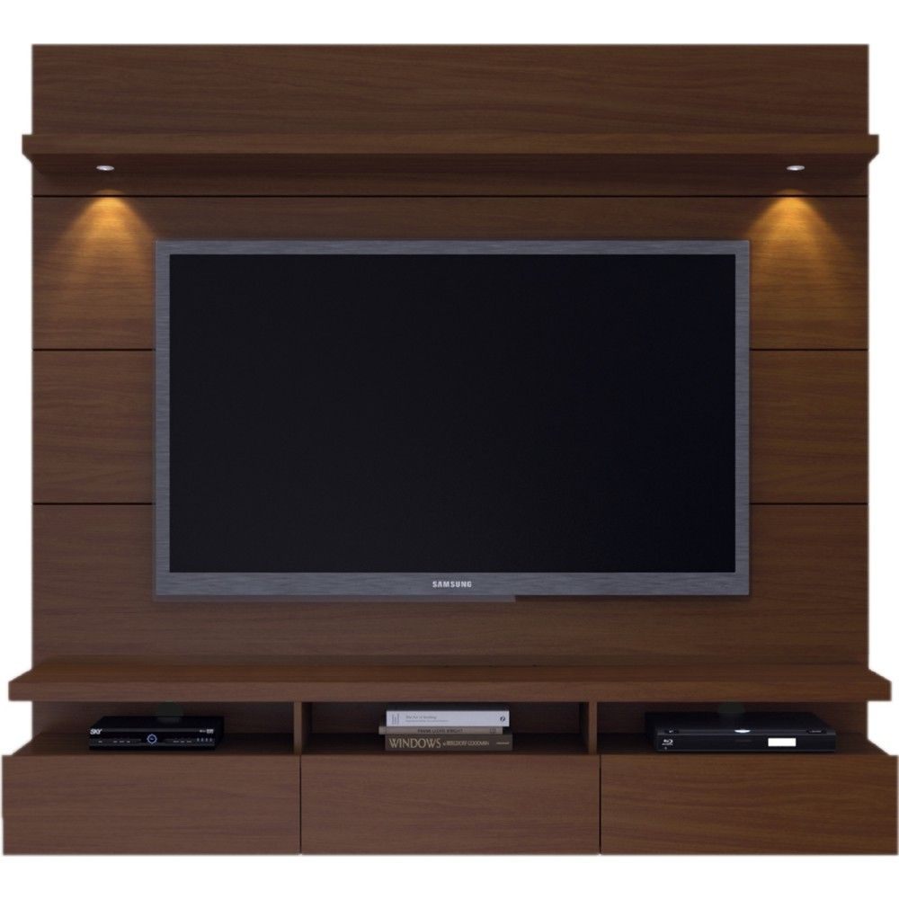 Cabrini Wall Mounted Floating Tv Back Panel 1 8 In Nut Brown By
