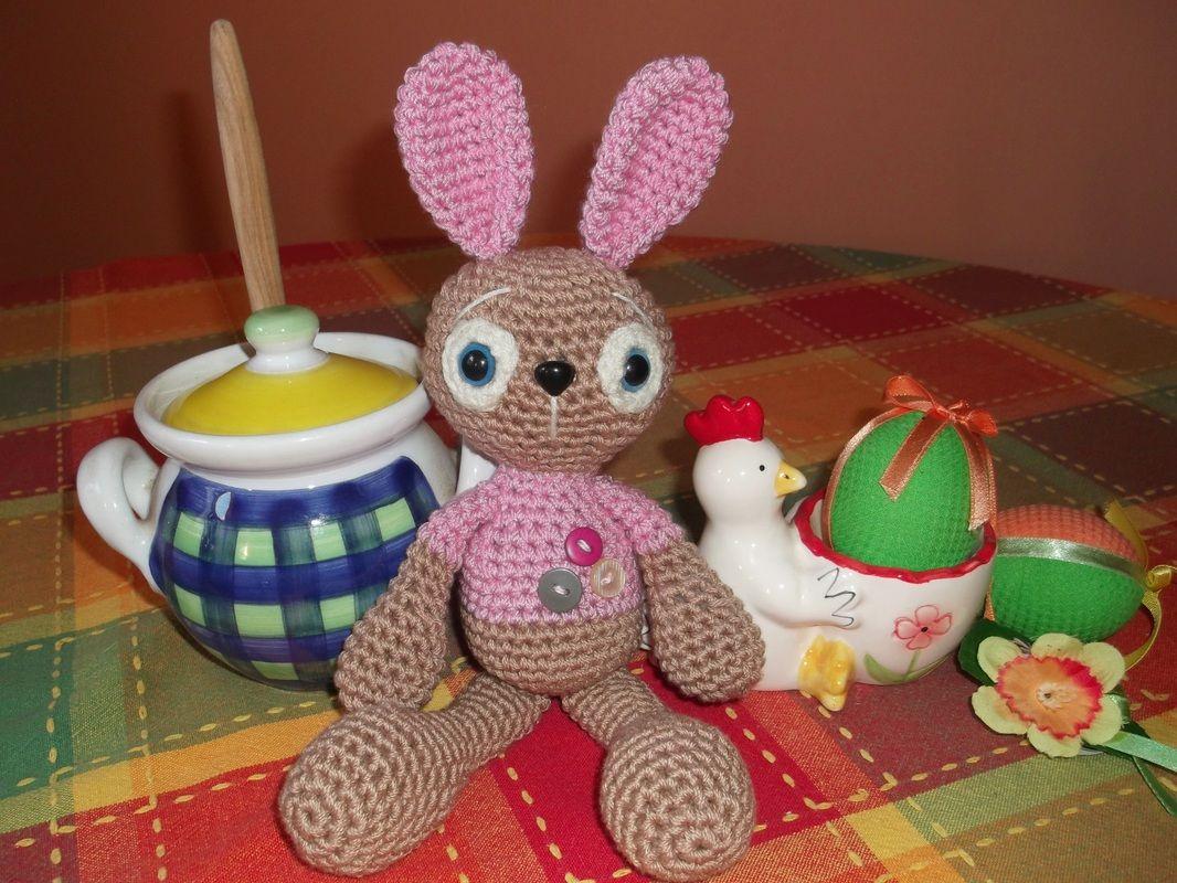 Horgolt Amigurumi Nyuszi : Crochet amigurumi bunny free pattern in my website