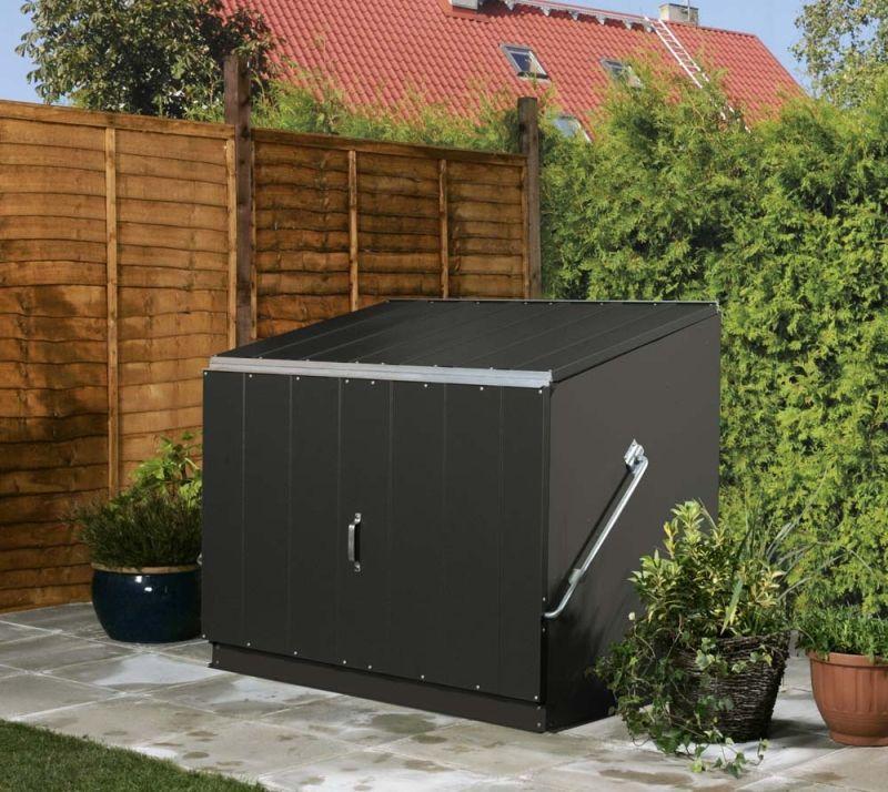 Trimetals Aufbewahrungsbox Stowaway Aufbewahrungsbox Gartenhaus Metall Gartenbox