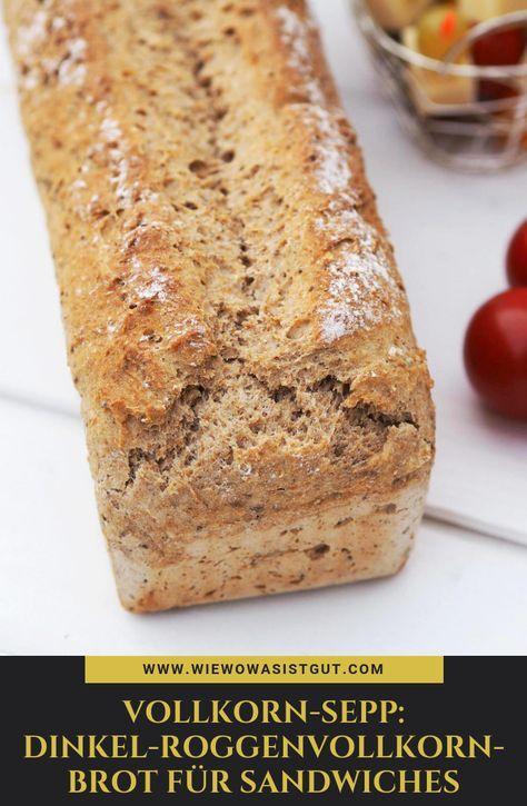 Photo of Vollkorn-Sepp: Dinkel-Roggenvollkornbrot für Sandwiches – wiewowasistgut.com