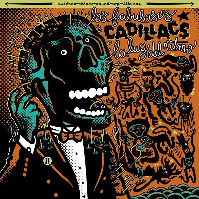 Los Fabulosos Cadillacs  - La Luz del Ritmo by Dr.Alderete #serigrafia
