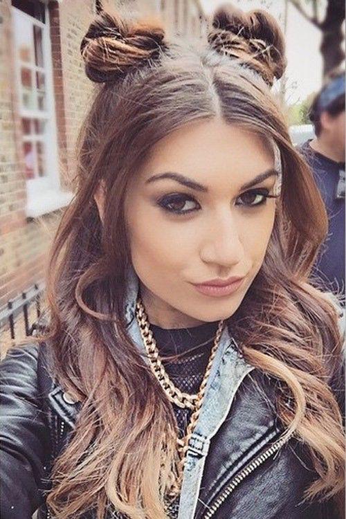 Parisa Tarjomani 2 Buns Half Up Half Down Half Up Half Down Hair Half Up Hair Hair Styles