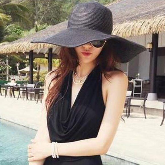 Feeling beachy! Stylish Wide Brim Straw Hat Accessories Hats  2b1f67802d40