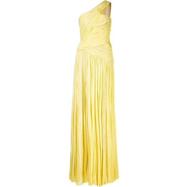 J. Mendel one shoulder draped gown (36.695 BRL) ❤ liked on Polyvore featuring dresses, gowns, beige gown, one shoulder evening dress, one shoulder ball gown, j. mendel dresses and j mendel gown