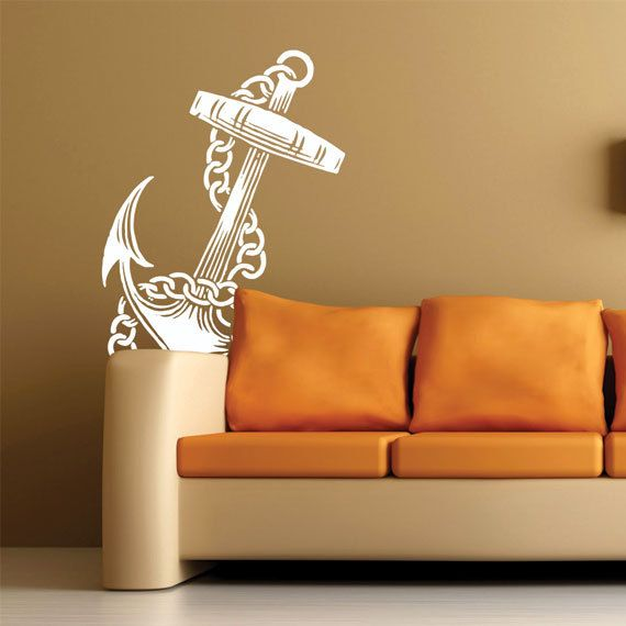 Vintage Tattoo Anchor Wall Decal Via Etsy Home Decor - Custom vinyl decal application instructionsapplication etsy