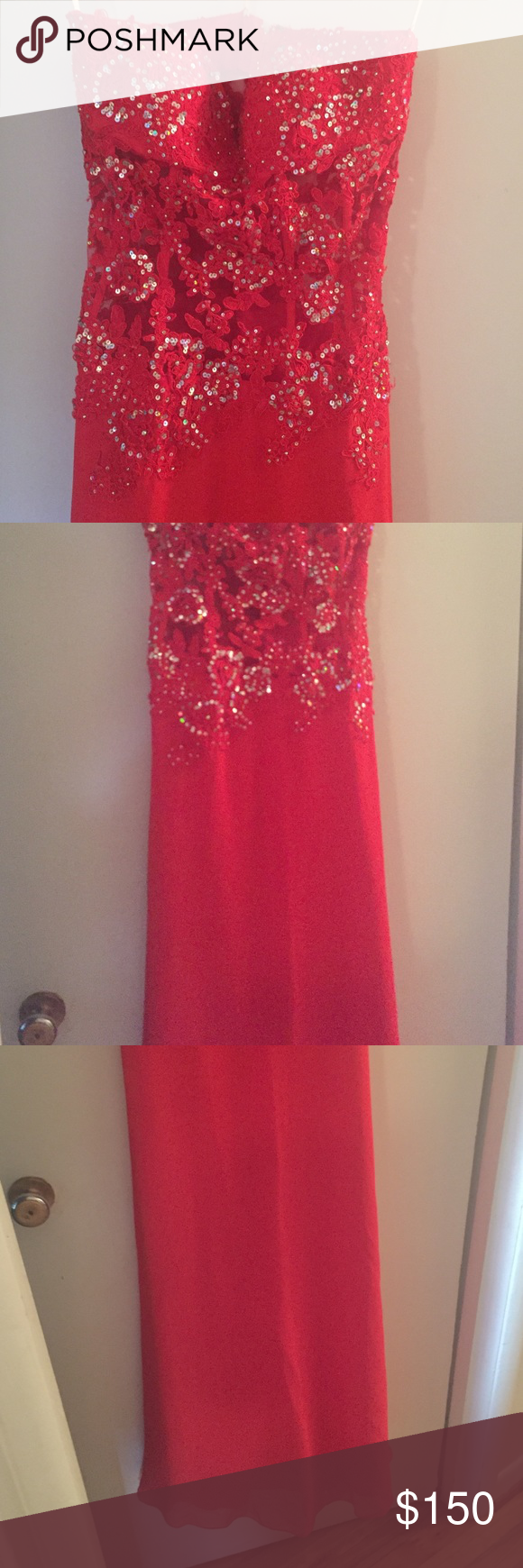 Red prom dress from girligirl boutique size prom and bodice