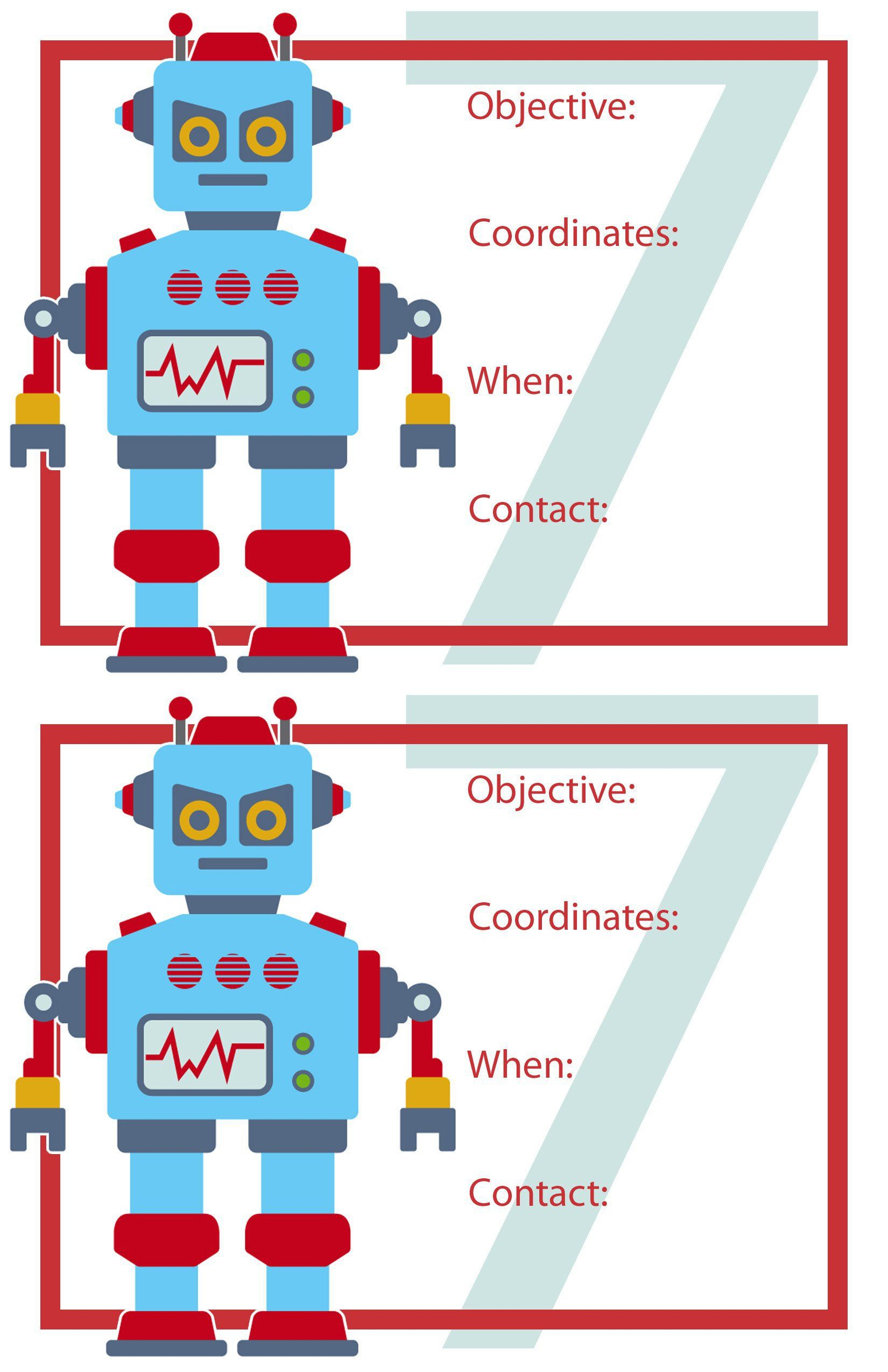 printable robot template www