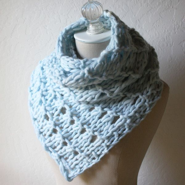 The Urbana cowl/wrap knitting pattern: one skein of super ...