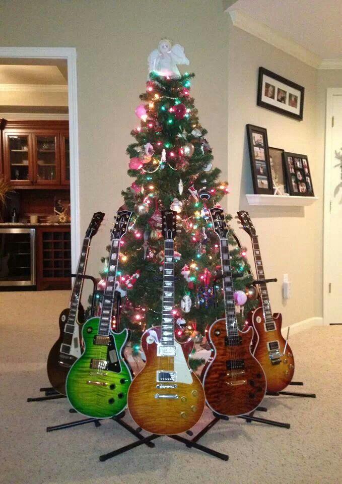 Rock and roll christmas tree | Christmas | Pinterest | Gitarre ...