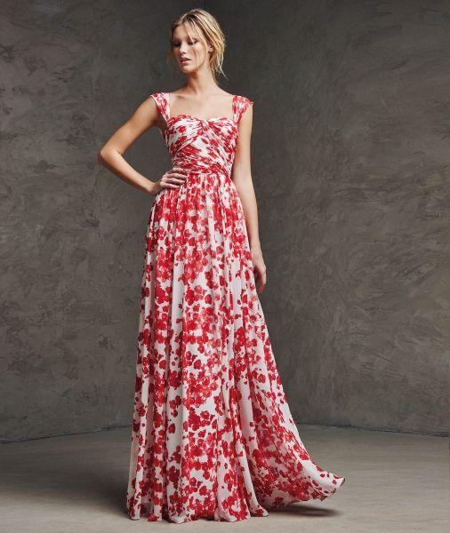 Vestido largos con flores ¡10 Tendencia de moda!   101 Vestidos de Moda   2016 - 2017