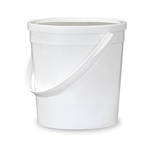 Gallon 32 Oz 1 Quart Food Grade Food Safe Round Plastic Bucketuiniuipnuotuikl Hi With Lid White Single Seal Lid Gallon Tall Trash Can Trash Can