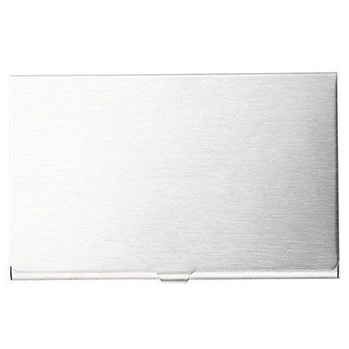 Amazon Com Moma Muji Aluminum Card Case Thin Business Card Holders Office Products Muji Smead Business Card Holders