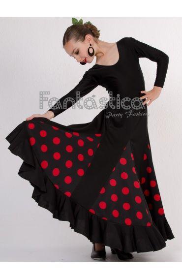 a1fcf49f4 Falda de Flamenca / Sevillana con Volantes para Niña y Mujer Color ...