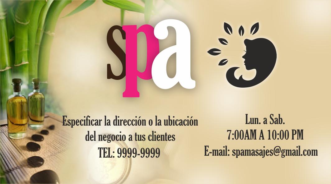 espaciohonduras Diseños de Tarjetas de presentación para SPA, para ...