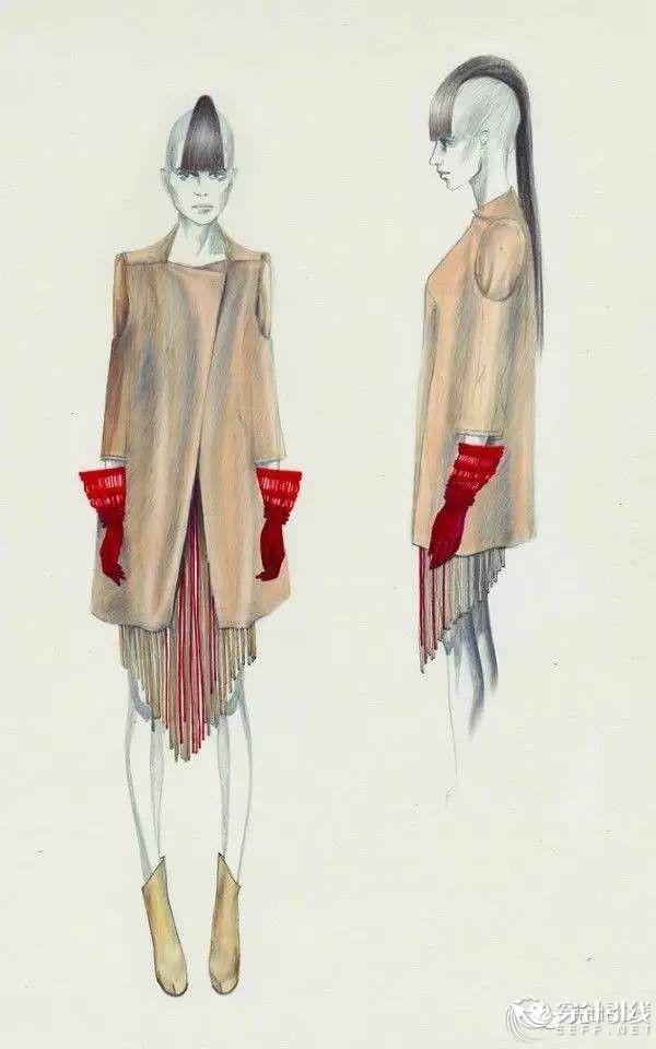 国外服饰时装效果图(女装版)赏析 - 服装画/服装设计手稿 - 穿针引线服装论坛