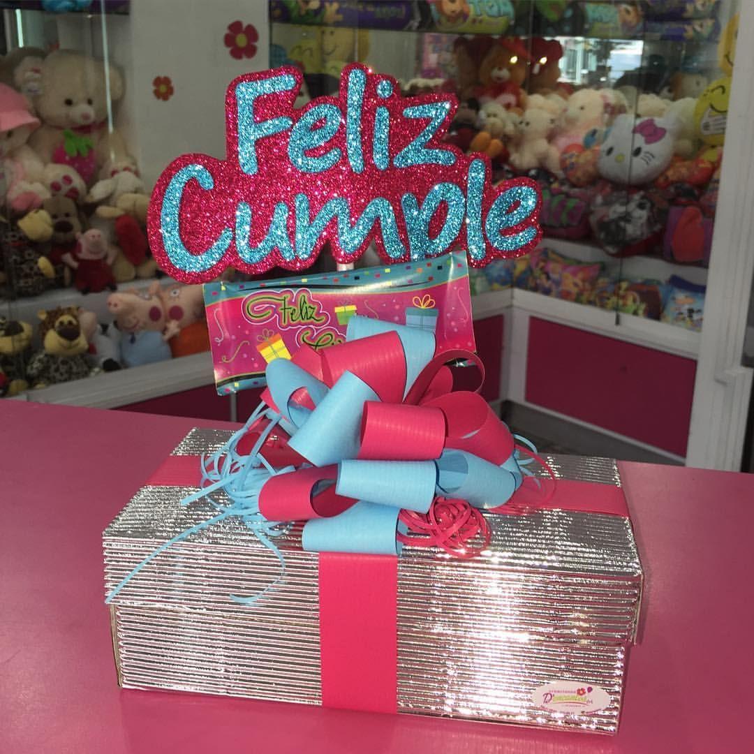 Caja decorada con motivo de cumplea os dencantos - Cajas con motivos navidenos ...