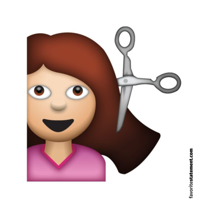 woman haircut emoji smiley frau haare schneiden emojis xxl