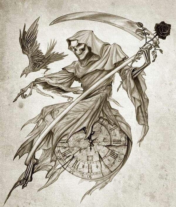 faucheuse   skulls   tattoos, reaper tattoo, death tattoo