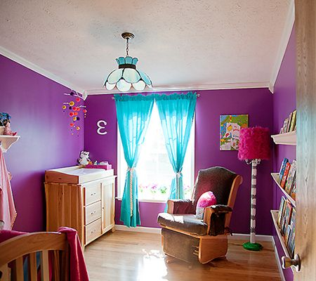 Girls Bedroom Purple And Green turquoise and purple room | purple + turquoise | purple +