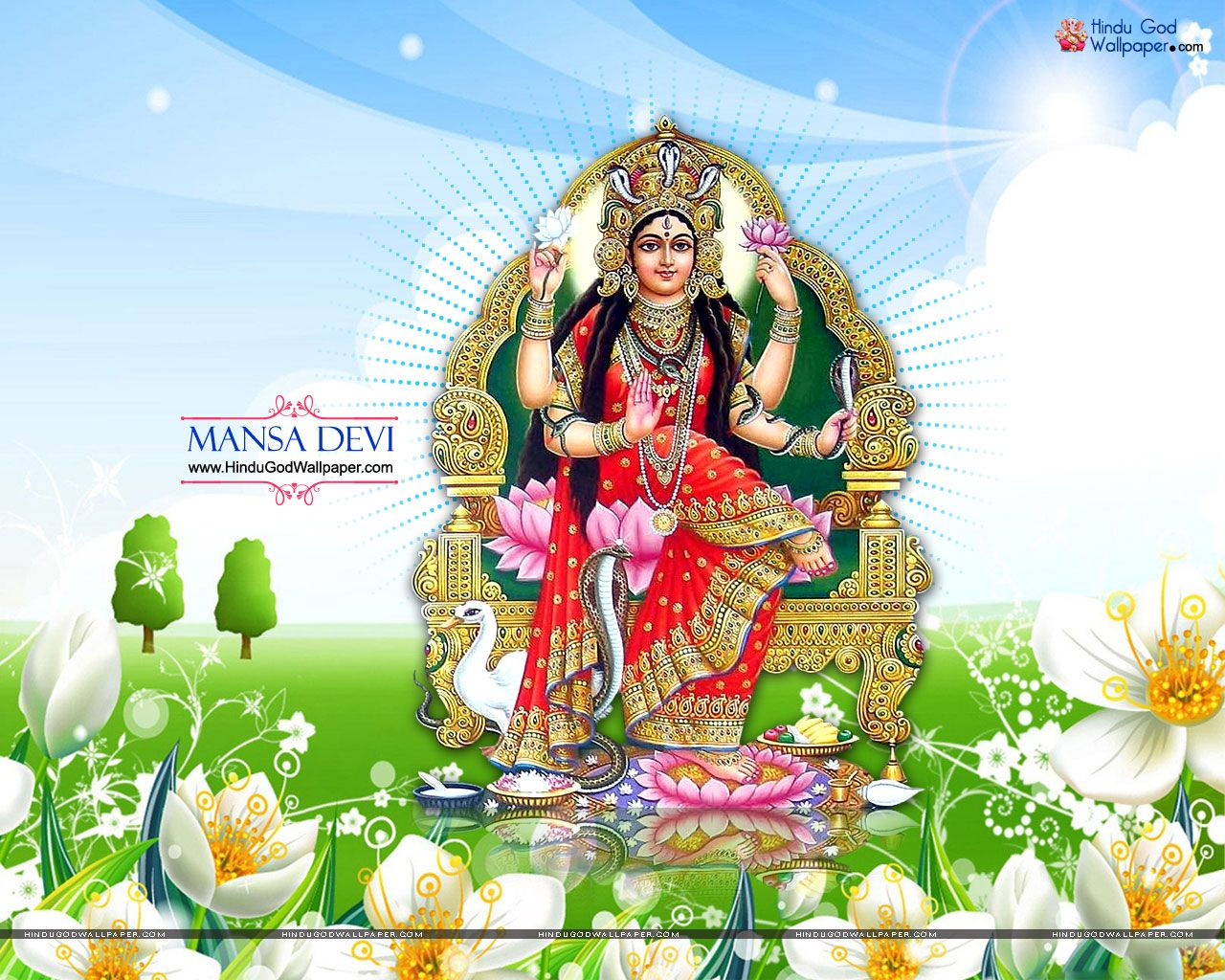 Mata Mansa Devi Wallpaper Free Download | Hindu Goddess