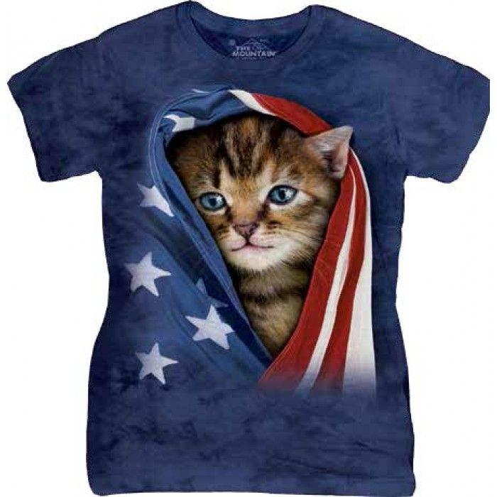 Tricouri The Mountain – Tricou Patriotic Kitten Dama