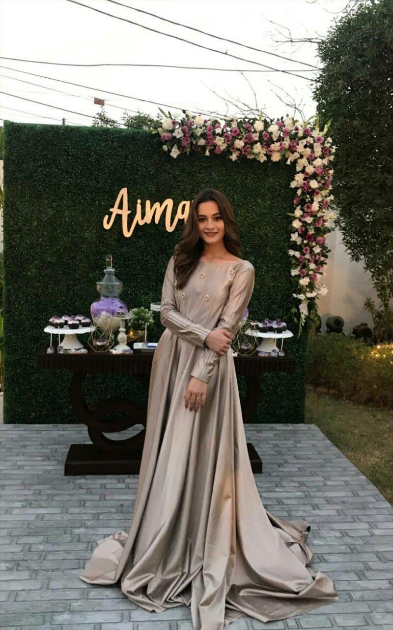Aiman bridal shower  Shower dress for bride, Pakistani wedding