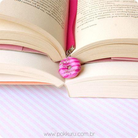marcador de páginas coffee & donuts - books and bookmarks - pokkuru