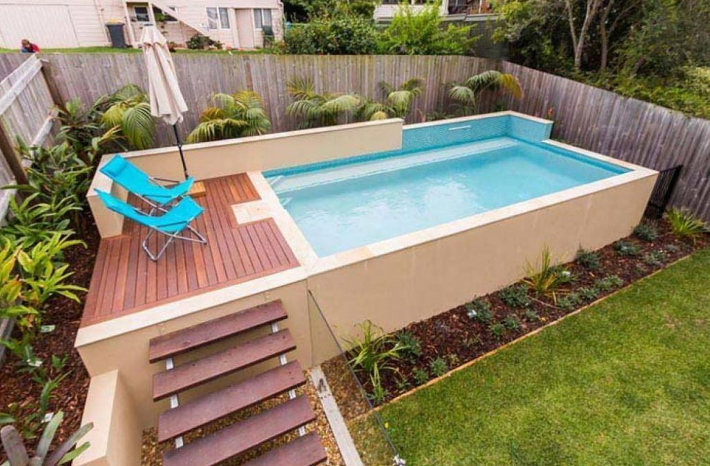 Outdoor Backyard Bar Plans Small Pool Design Pools For Small Yards Rectangle Pool