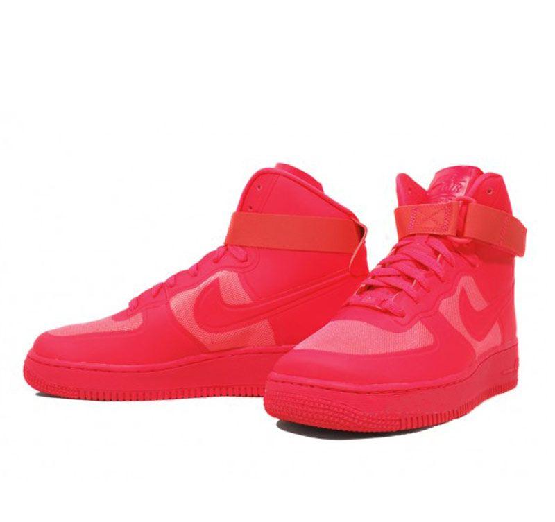 Nike Air Force 1 Haute Lumières Rouges Solaires Primes De Hyperfuse