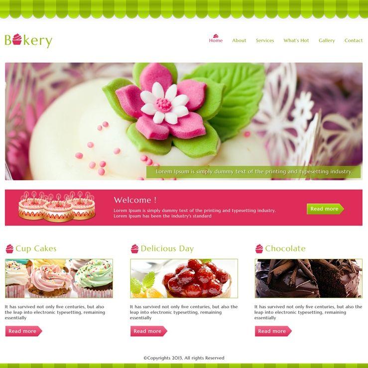 Food #Bakery #website #Template | WEB DeSiGn | Pinterest | Bakery ...