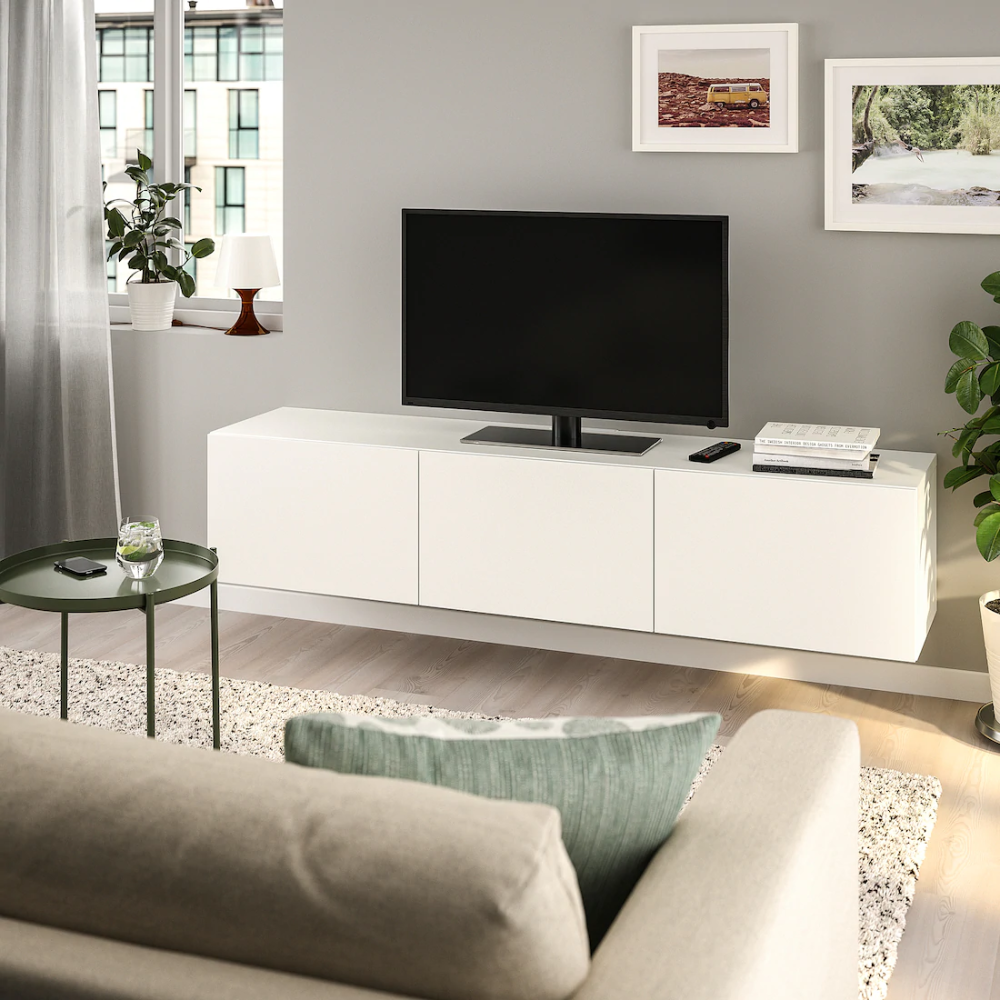 Pin By Sam On Living Room In 2020 Tv Bench White Tv Unit Tv Unit