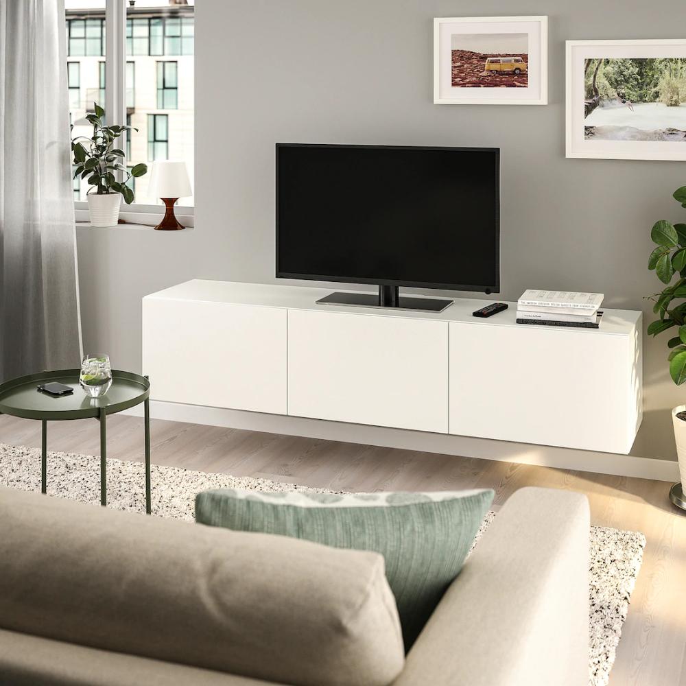 Besta Tv Unit With Doors White Lappviken White 70 7 8x16 1 2x15