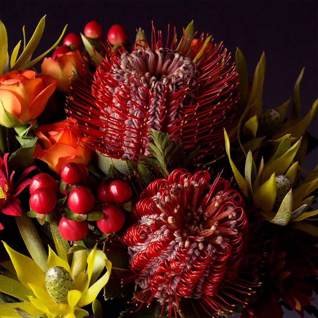 Stunning Australian natives arranged by a local Australian