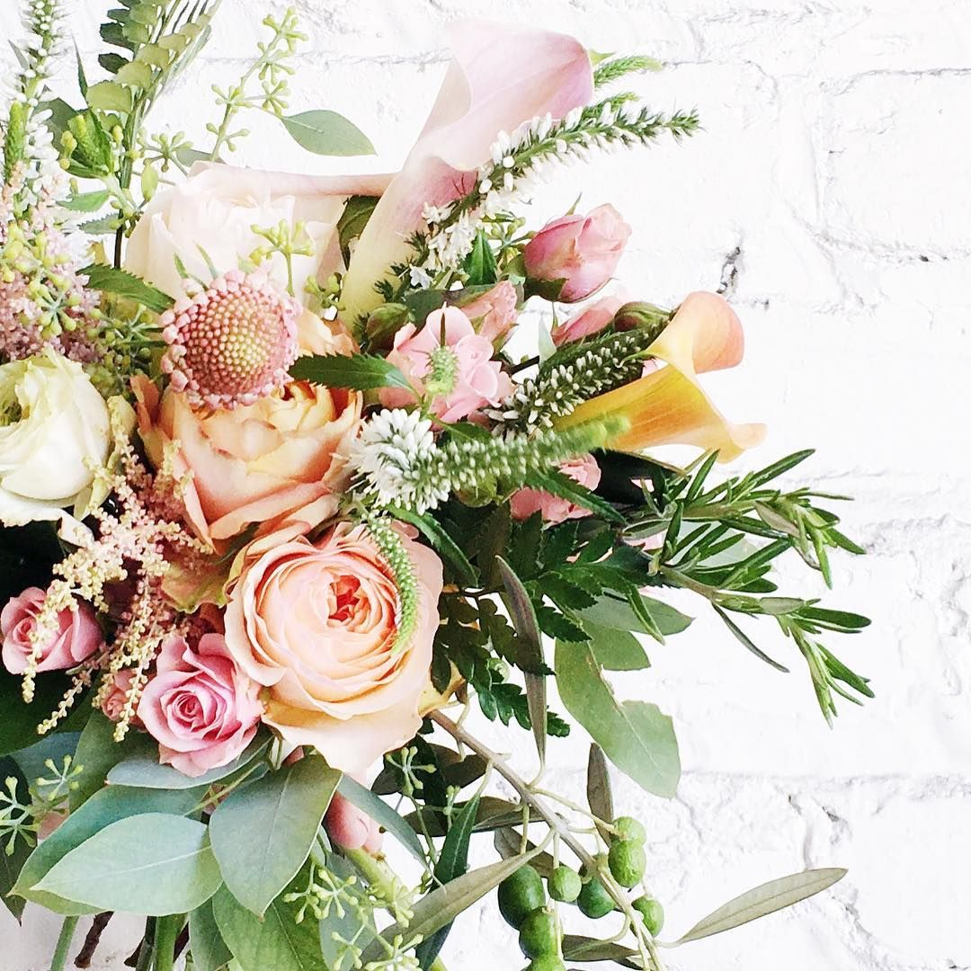 A tiny piece of torn eucalyptus in a gorgeous bouquet... just like ...