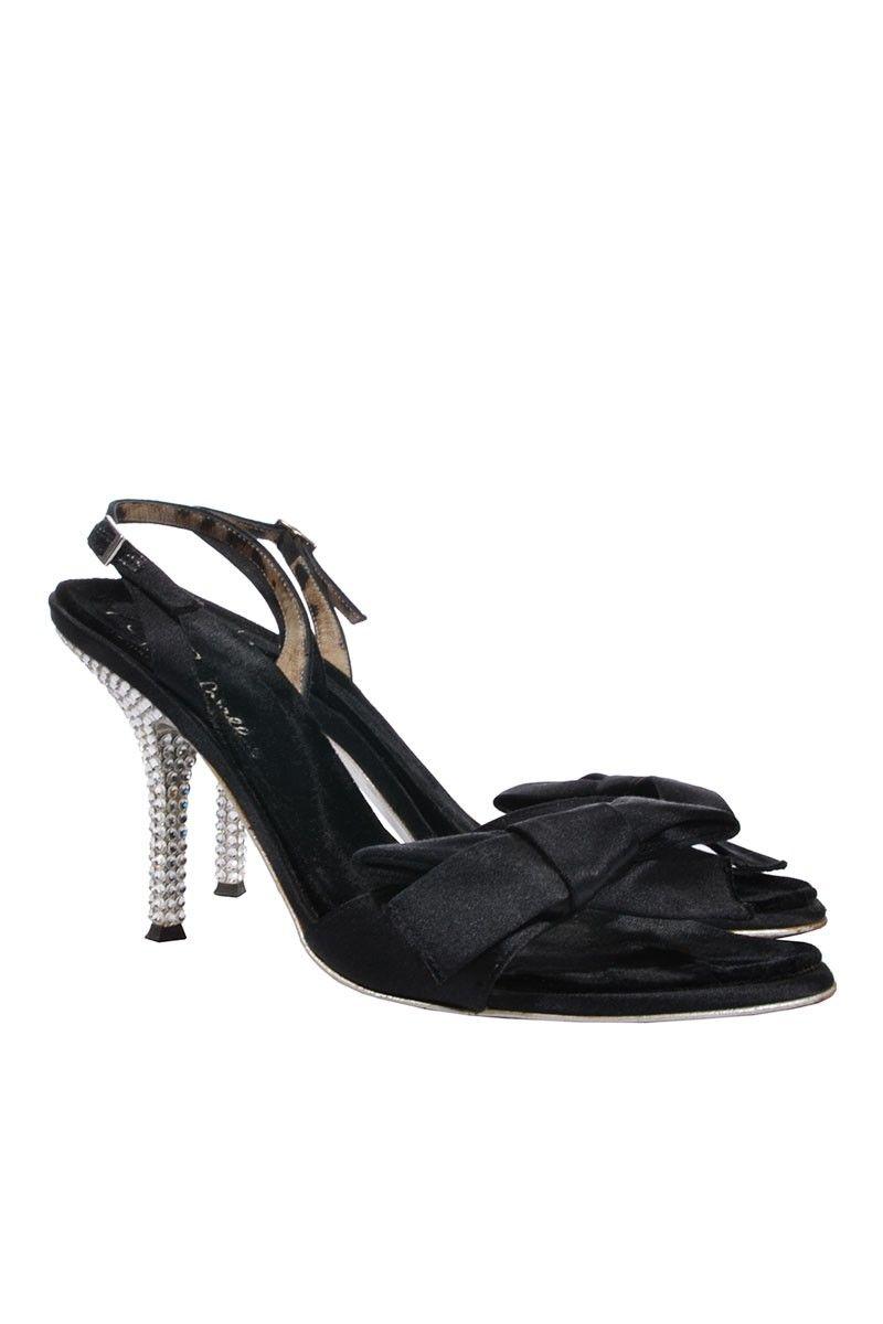 #RobertoCavalli | Elegante #Sandaletten mit #Swarovski #Kristallen am Absatz, Gr. 37 | Roberto Cavalli Sandalette | mymint-shop.com | Ihr #OnlineShop für #Secondhand / #Vintage #Designerkleidung & #Accessoires bis zu -90% vom Neupreis das ganze Jahr #mymint