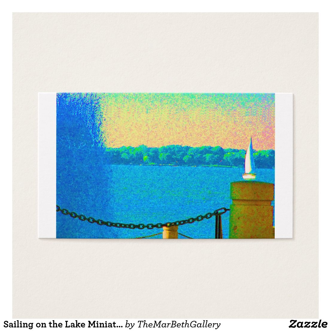 Sailing on the lake miniature artwork for dollhous business card sailing on the lake miniature artwork for dollhous business card trim this card frame magicingreecefo Gallery